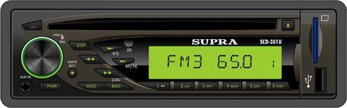 Автомагнитола SUPRA SCD-301U,  USB,  SD/MMC