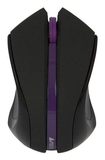 Мышь A4 xFar G9-310 оптическая беспроводная USB, черный и фиолетовый [g9-310-5]