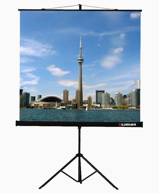 Экран LUMIEN Eco View LEV-100102,  180х180 см, 1:1,  напольный черный