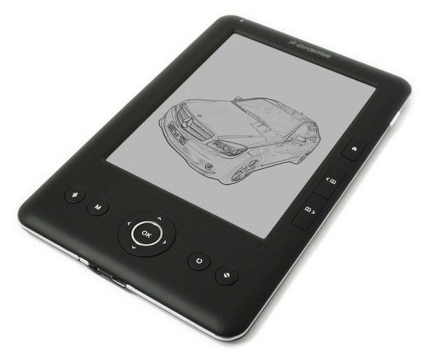"""Электронная книга DIGMA e600,  6"""", карта памяти 4 Гб + чехол, черный"""