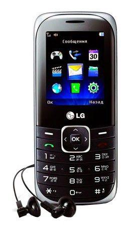 Мобильный телефон LG A160  серебристый/черный
