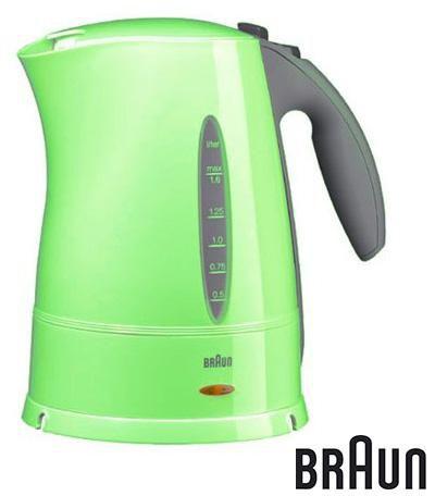 Чайник электрический BRAUN WK210, 2200Вт, зеленый