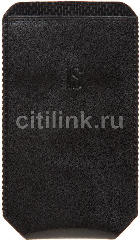 Чехол (футляр) INTERSTEP Pocket р90, для Apple iPhone 4, черный [spct90-000000-k1301o-k100]