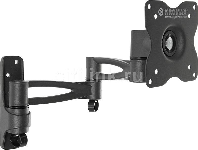 "Кронштейн для телевизора Kromax ASTRA-9 серый 15""-32"" макс.15кг настенный поворот и наклон [20004]"