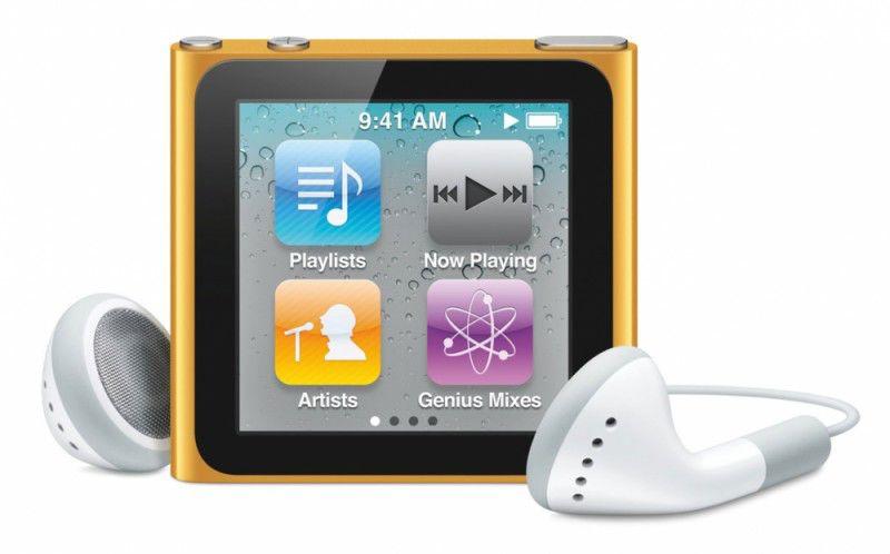 MP3 плеер APPLE iPod Nano flash 8Гб оранжевый [mc691]