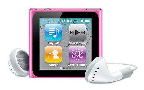 MP3 плеер APPLE iPod Nano flash 16Гб розовый [mc698]