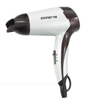 Фен POLARIS PHD1239T, 1200Вт, белый и черный