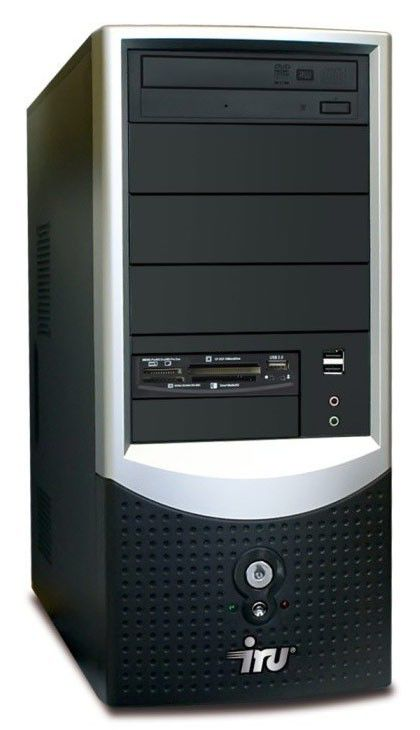 ПК iRU Corp 310 PDC-E5700(3000)/2048/250/DVD-RW/CR/WV-HP/black
