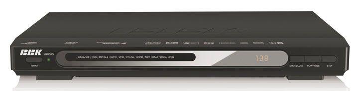 DVD-плеер BBK DV630SI,  черный,  диск 500 песен