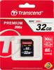 Карта памяти SDHC UHS-I TRANSCEND Premium 32 ГБ