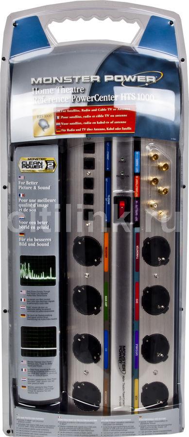 Сетевой фильтр MONSTER HTS 1000 DE, 3м, серебристый [109456]