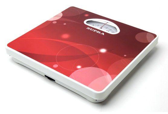Напольные весы SUPRA BSS-4060, до 130кг, цвет: красный/рисунок [1250]