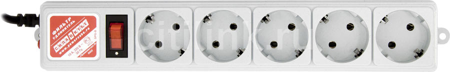 Сетевой фильтр POWERCUBE SPG-B-6, 1.9м, серый