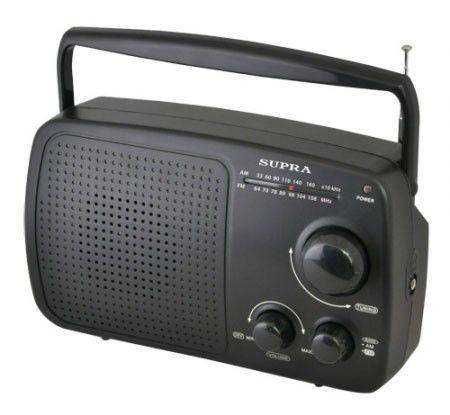 Радиоприемник SUPRA ST-101,  черный