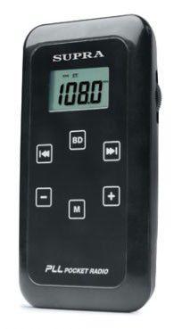 Радиоприемник SUPRA ST-104,  черный