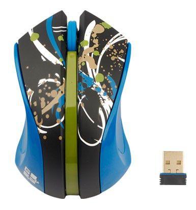 Мышь G-CUBE Paint Splash G9PS-310T оптическая беспроводная USB, синий и черный