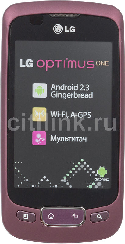 Смартфон LG Optimus One P500,  красный