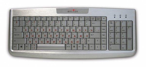 Клавиатура OKLICK 580S,  USB, серебристый