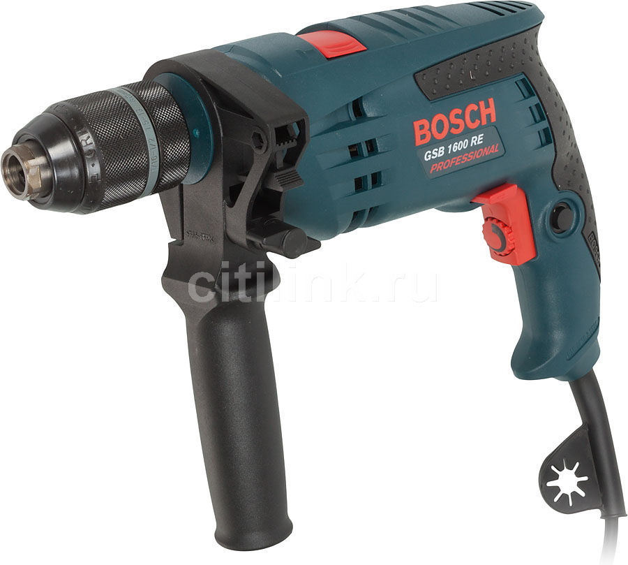 Дрель ударная BOSCH GSB 1600 RE Professional [0601218121]  - купить со скидкой
