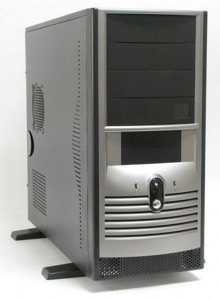 Корпус ATX FOXCONN TH-002, 400Вт,  черный и серебристый