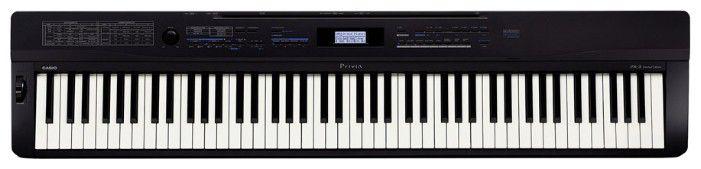 Цифровое фортепиано PRIVIA CASIO PX-3BK, 88, невзвешенная, полноразмерные, 128, черный
