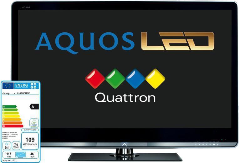 LED телевизор SHARP Aquos LC46LE822E  46