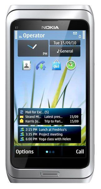 Смартфон NOKIA E7-00  16Гб, серебристый
