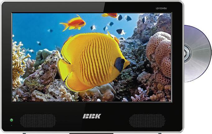 "Телевизор ЖК BBK LD1534SU  15"", HD READY (720p),  c DVD плеером,  черный"