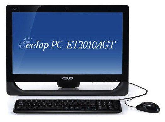 Моноблок ASUS EeeTop PC ET2010AGT, AMD Athlon II X2 250u, 3Гб, 500Гб, ATI Radeon HD 5470, DVD-RW, Free DOS, черный [90pe3fa21138l0059c0c]