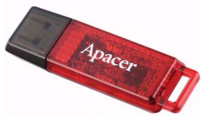 Флешка USB APACER Handy Steno AH324 32Гб, USB2.0, красный [ap32gah324r-1]