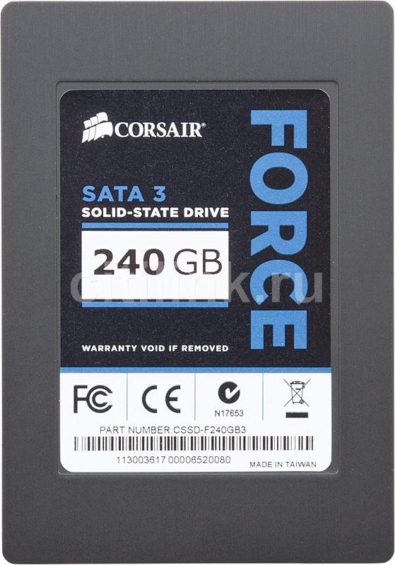 SSD накопитель CORSAIR Force 3 CSSD-F240GB3-BK 240Гб, 2.5