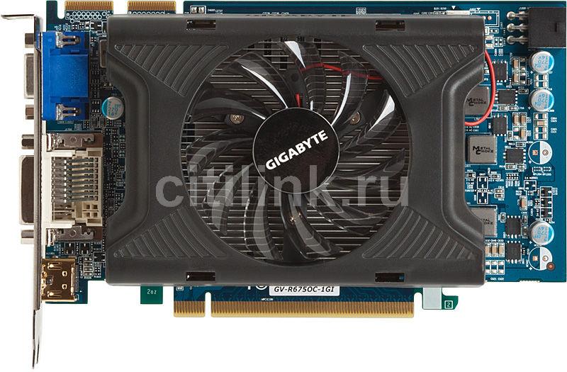 Видеокарта GIGABYTE Radeon HD 6750,  1Гб, GDDR5, OC,  Ret [gv-r675oc-1gi]