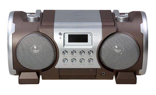 Аудиомагнитола SUPRA SR-CD116,  коричневый