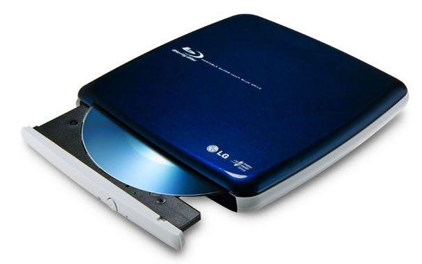 Оптический привод Blu-Ray RE LG BP06LU10, внешний, USB, синий,  Ret [bp06lu10.auae10b]