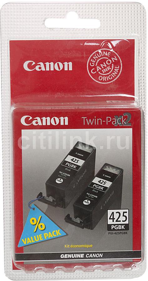 Двойная упаковка картриджей CANON PGI-425PGBK черный [4532b007]