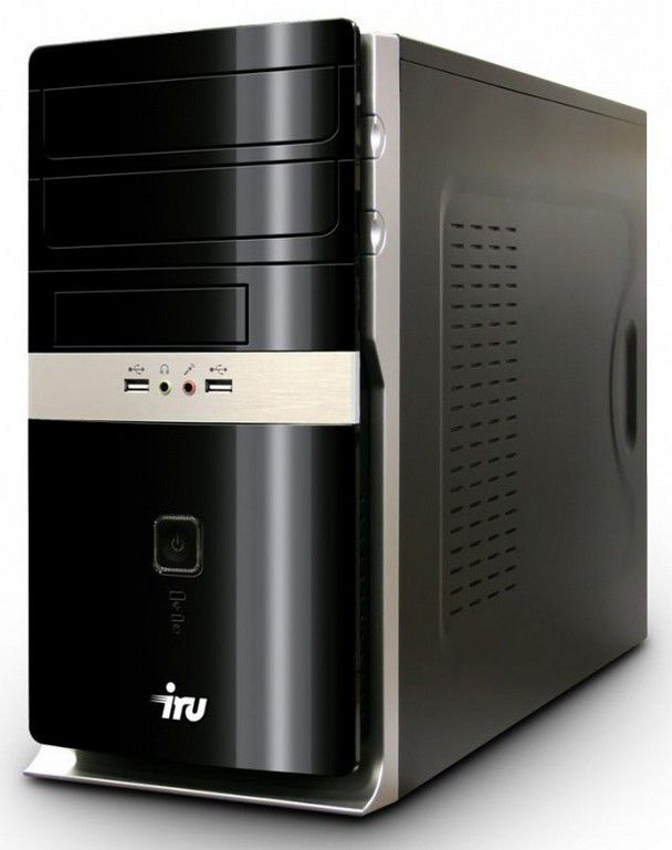 Компьютер  IRU Home 310,  Intel  Core i3  2100,  DDR3 4Гб, 500Гб,  nVIDIA GeForce GTX 550 - 1024 Мб,  DVD-RW,  CR,  noOS,  черный