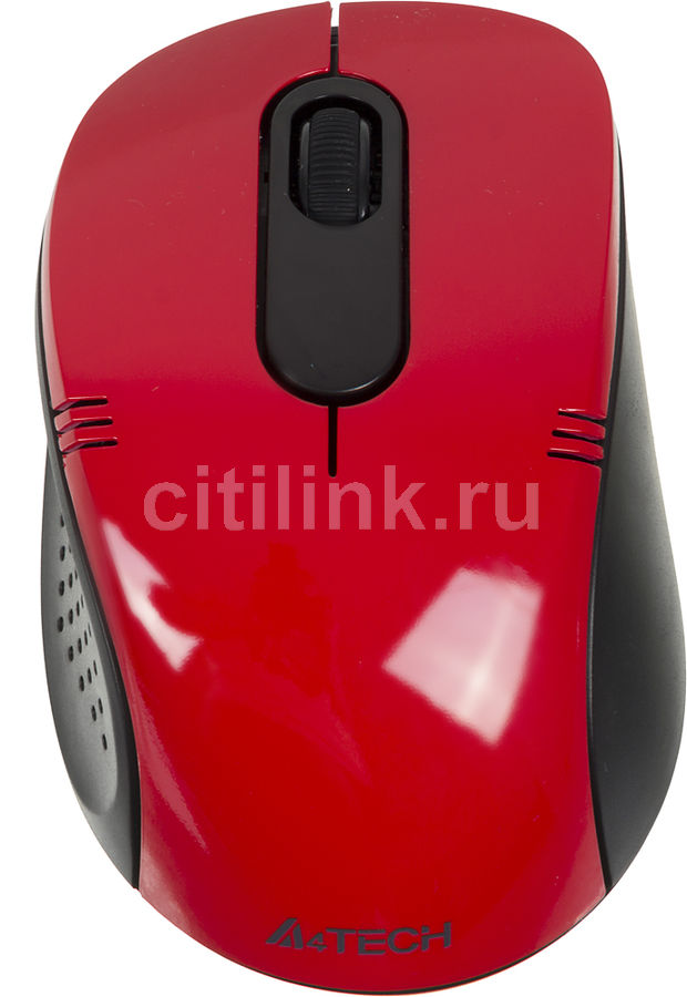 Мышь A4 G7-630N-4 оптическая беспроводная USB, красный и черный