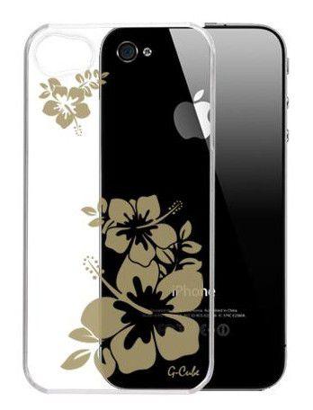 Чехол (клип-кейс) G-CUBE GPA-4SS, для Apple iPhone 4, прозрачный