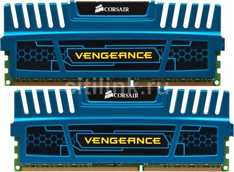 Модуль памяти CORSAIR Vengeance CMZ8GX3M2A1866C9B DDR3 -  2x 4Гб 1866, DIMM,  Ret