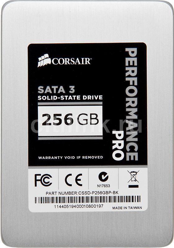 SSD накопитель CORSAIR Performance Pro CSSD-P256GBP-BK 256Гб, 2.5
