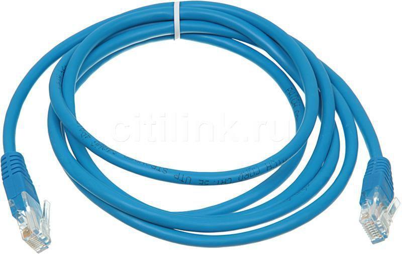 Патч-корд  литой (molded), cat.5E, 2м, 1 шт,  синий
