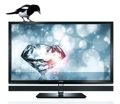 "LED телевизор TOSHIBA REGZA 55ZL1R CEVO  55"", 3D,  черный"
