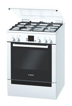 Газовая плита BOSCH HGG245225R,  газовая духовка,  белый