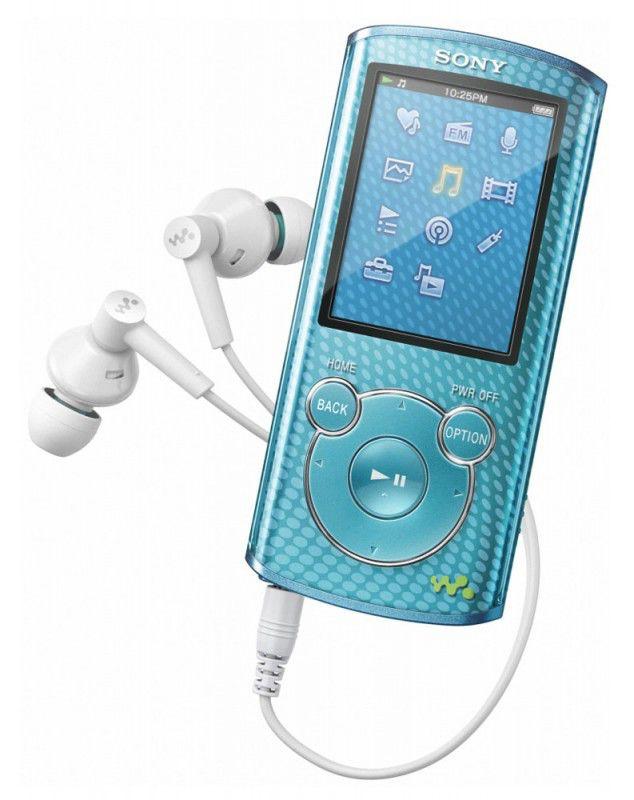 MP3 плеер SONY NWZ-E464 flash 8Гб голубой [nwze464fl]