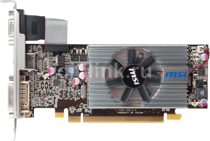Видеокарта MSI Radeon HD 6570,  1Гб, DDR3, Low Profile,  oem [r6570-md1gd3/lp bulk]