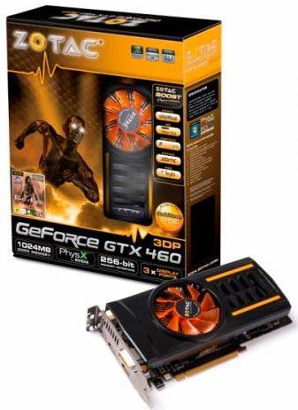 Видеокарта ZOTAC GeForce GTX 460,  1Гб, GDDR5, Ret [zt-40407-10p]