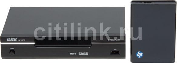 Медиаплеер BBK NP102S + HDD 500Gb,  черный