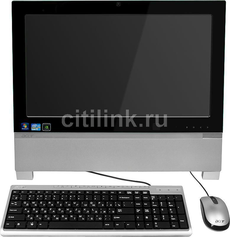 Моноблок ACER Aspire Z3760, Intel Core i3 2120, 4Гб, 500Гб, nVIDIA GeForce GT520 - 1024 Мб, DVD-RW, Windows 7 Home Basic, черный и серебристый [pw.sgze1.006]