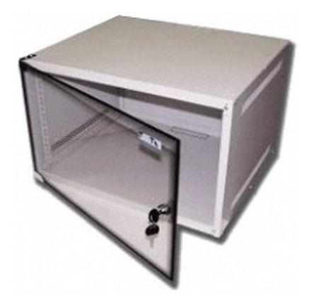 Шкаф настенный Lanmaster Lite (TWT-CBWL-6U-6X4 ) 6U 600x450мм пер.дв.стекл несъемные бок.пан. 30кг с