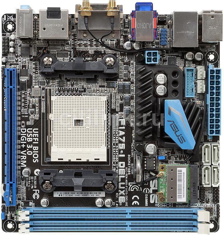 Материнская плата ASUS F1A75-I DELUXE Socket FM1, mini-ITX, Ret